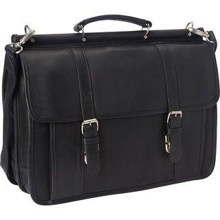 LeDonne Leather Classic Dowel Rod Laptop Briefcase