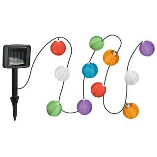 Paradise GL28220ASRT Assorted Colors Fabric Lantern String Light