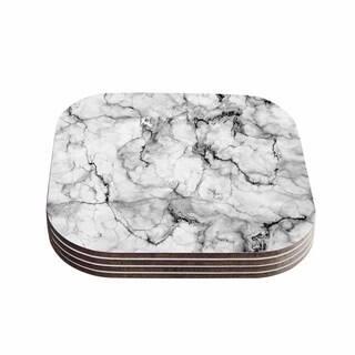 Kess InHouse Chelsea Victoria 'Marble No 2 ' Black Modern Coasters (Set of 4) https://ak1.ostkcdn.com/images/products/11806358/P18714602.jpg?impolicy=medium