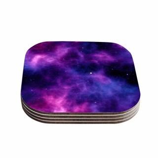Kess InHouse Chelsea Victoria 'Infinity ' Purple Fantasy Coasters (Set of 4)