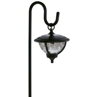 Paradise GL22785BK 12 Volt Black Palm Series Shepherd Hook Design Path Light