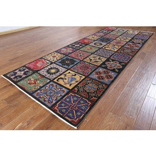 Hand-knotted Oriental Art Deco Multi Wool Rug (5'1 x 12'8)