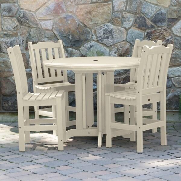Lehigh 5-piece Round Counter-height Dining Set