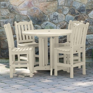 Highwood Eco-friendly Synthetic Wood Lehigh 5-piece Round Counter-height Dining Set