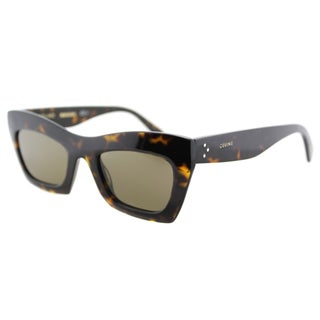 Celine CL 41399 086 Dark Havana Plastic Cat-Eye  Brown Lens  Sunglasses