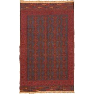 ecarpetgallery Handmade Shiravan Sumak Blue and Red Wool Sumak (5'5 x 9'1)