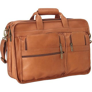 LeDonne Leather Expandable Multi-function Leather Briefcase (Option: Beige)