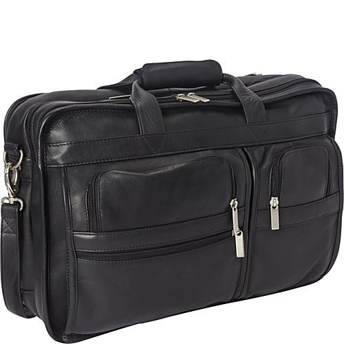 LeDonne Leather Expandable Multi-function Leather Briefcase