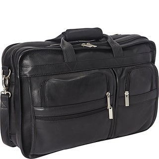 LeDonne Expandable Multi-function Leather Briefcase