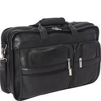 LeDonne Leather Expandable Multi-function Leather Briefcase