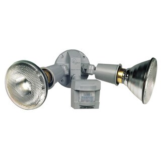 Heathco HZ-5408-GR 120 Watt Grey DualBrite 2-Level Motion Flood Light (Set of 2)