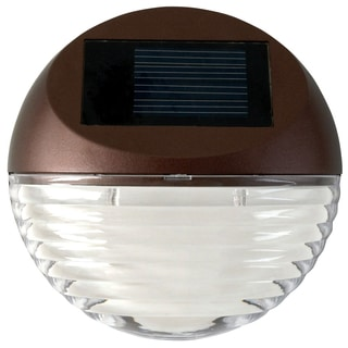 Moonrays 95027 Round Mini Deck Light On Card