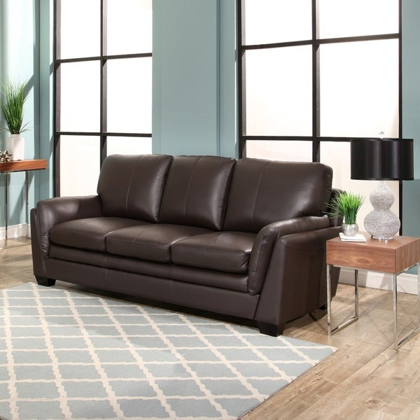 Abbyson Bella Top Grain Leather Sofa