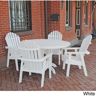 Highwood Eco-friendly Synthetic Wood Hamilton 5-piece Round Dining Set
