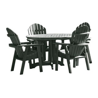 Highwood Eco-friendly Synthetic Wood Hamilton 5-piece Round Dining Set (2 options available)