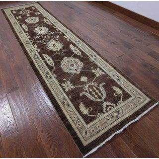 Oriental Peshawar Brown Hand-knotted Wool Rug (2' 8 X 10' 6)