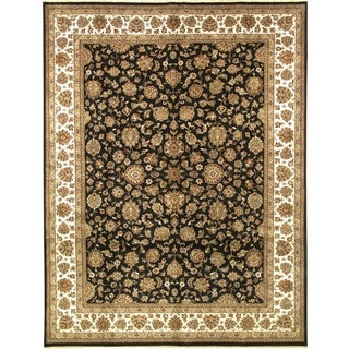 ecarpetgallery Hand-knotted Mirzapur Beige and Black Wool Rug (9'3 x 12'1)
