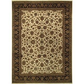 ecarpetgallery Hand-knotted Mirzapur Brown Wool Rug (9'1 x 12'4)