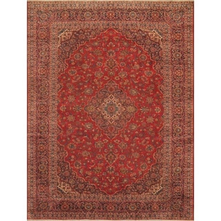ecarpetgallery Hand-knotted Kashan Red Wool Rug (9'10 x 13'4)
