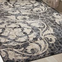 Nourison Maxell Ivory/Charcoal Rug - 9'3 x 12'9