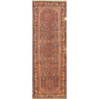 eCarpetGallery Persian Vintage Red Wool Hand-knotted Rug (3'3 x 10'1)