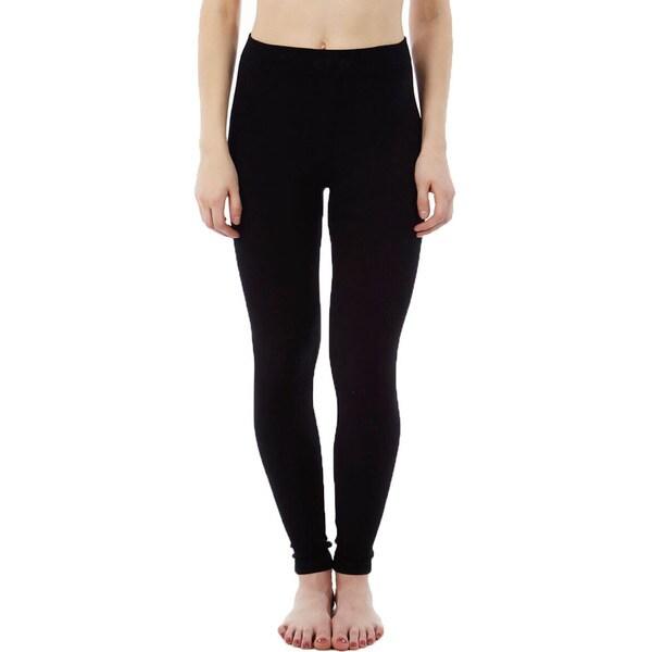 Rochelli Women's Black Seamless Legging Pants (Pack of 4)