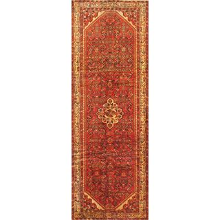 ecarpetgallery Hosseinabad Multi/Red Wool Hand-knotted Rug (3'6 x 10'4)