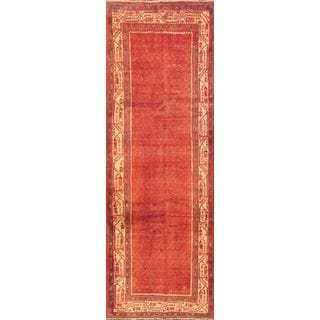 ecarpetgallery Hand-knotted Arak Red Wool Rug (3'5 x 10'1)