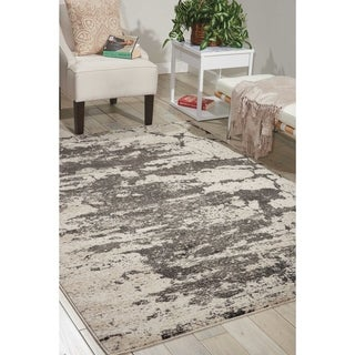 Nourison Maxell Ivory/Grey Rug - 7'10 X 10'6