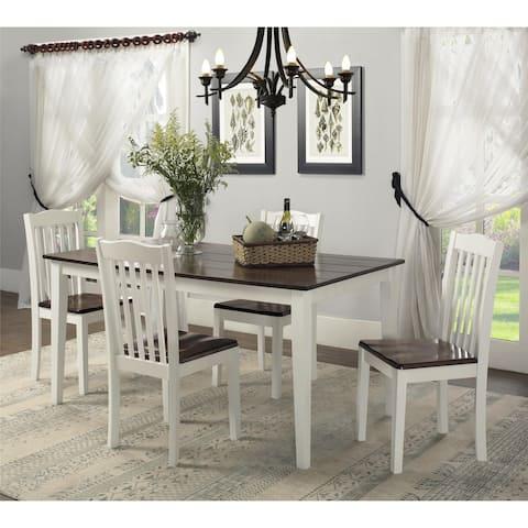 Dorel Living Shiloh 5-Piece Rustic Dining Set