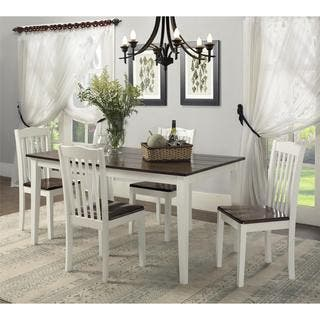 Dorel Living Shiloh 5 Piece Rustic Dining Set. White Dining Room Sets For Less   Overstock com