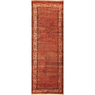 ecarpetgallery Hand-knotted Arak Red Wool Rug (3'8 x 10'7)