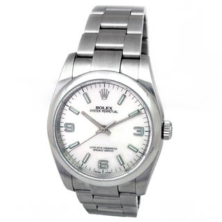 Pre-owned Rolex Stainless Steel Oyster Perpetual Watch