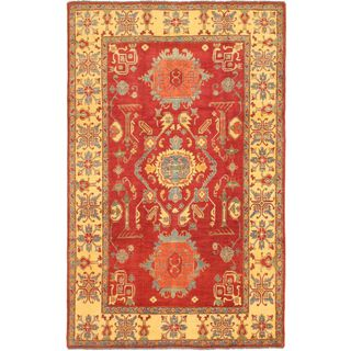 ecarpetgallery Hand-knotted Finest Gazni Multi and Red Wool Rug (7'5 x 12'3)