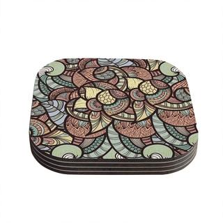 Kess InHouse Danny Ivan 'Wild Run' Coasters (Set of 4)