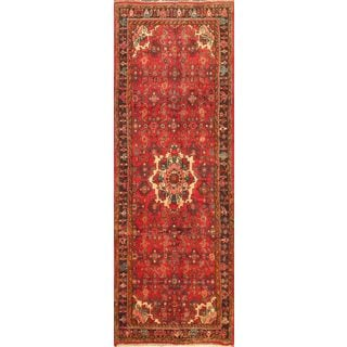 ecarpetgallery Hand-knotted Hosseinabad Red Wool Rug (3'7 x 10'3)