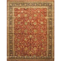 ecarpetgallery Hand-knotted Mirzapur Blue and Red Multicolor Wool Rug (12' x 17'9)