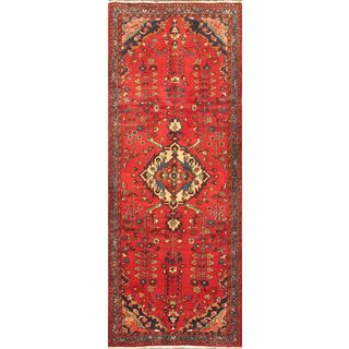 ecarpetgallery Nahavand Red Hand-knotted Wool Runner Rug (3'8 x 9'8)