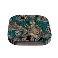 Kess InHouse Danny Ivan 'Fox' Coasters (Set of 4)