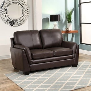 Abbyson Bella Top-grain Leather Loveseat