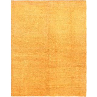 ECarpetGallery Beige / Orange Wool Hand-knotted Persian Gabbeh Rug (5'6 x 7')