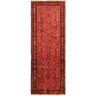 ecarpetgallery Hand-knotted Lilihan Purple and Red Wool Rug (3'10 x 10'8)