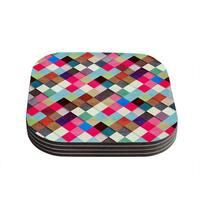 Kess InHouse Danny Ivan 'Ubrik' Coasters (Set of 4)