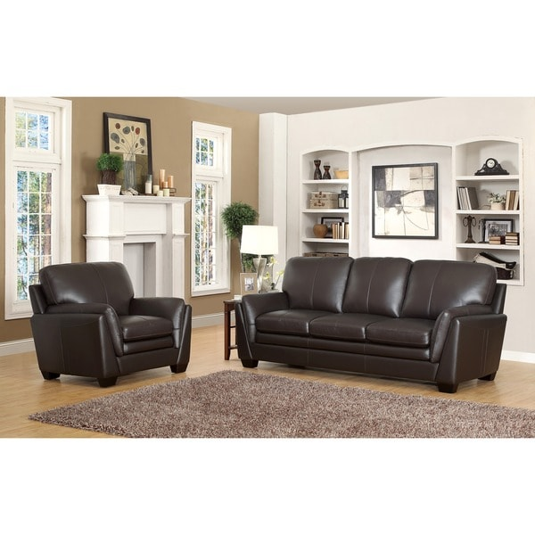 abbyson living bella top grain leather sofa and armchair reviews