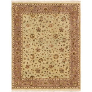 ecarpetgallery Hand-knotted Jamshidpour Beige and Green Wool Rug (8'1 x 10'2)
