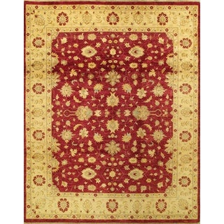 ecarpetgallery Hand-knotted Chobi Finest Red and Yellow Wool Rug (8'1 x 10'2)