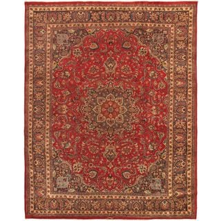 ecarpetgallery Hand-knotted Persian Vogue Blue and Red Wool Rug (9'5 x 12'4)