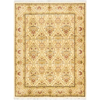 ecarpetgallery Hand-knotted Peshawar Finest Beige and Wool Rug (9'2 x 12')