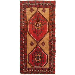 eCarpetGallery Hand-knotted Sarab Beige/Red Wool Rug (3'10 x 7'10)