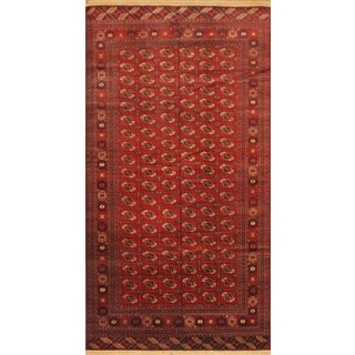 eCarpetGallery Shiravan Bokhara Red Hand-knotted Wool Rug (7'5 x 14'1)